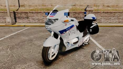 BMW R1150RT Police nationale [ELS] v2.0 para GTA 4