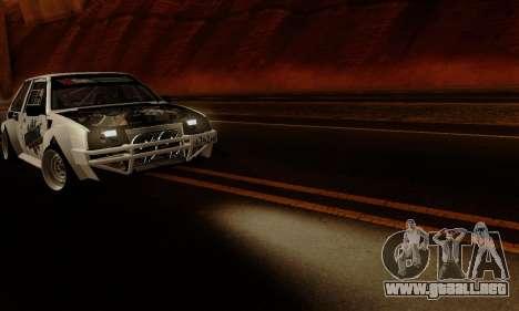 VAZ 2108 RDA para visión interna GTA San Andreas