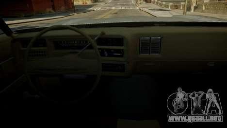 Chevrolet El Camino 1973 Old para GTA 4 interior