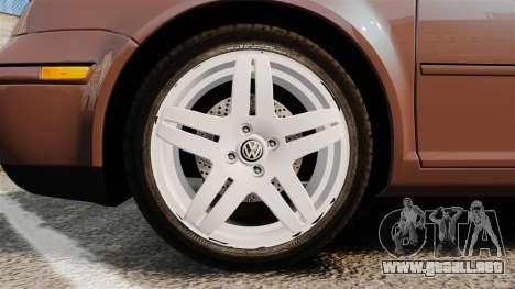 Volkswagen Bora 1.8T Camel para GTA 4 vista hacia atrás