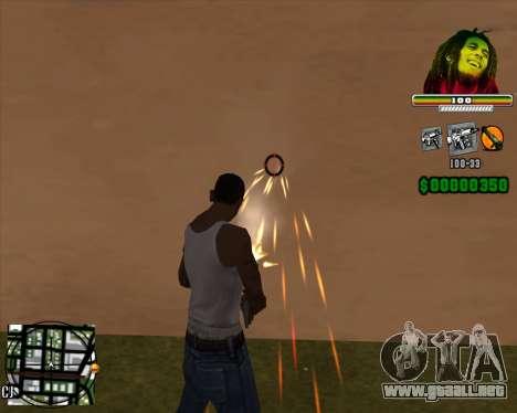 C-HUD Bob Marley para GTA San Andreas segunda pantalla