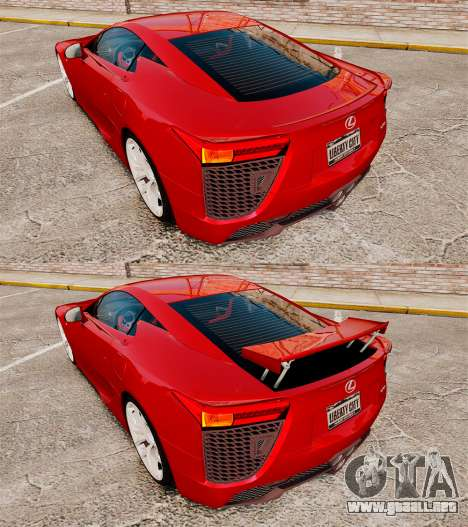 Lexus LF-A 2010 v2.0 [EPM] Final Version para GTA 4 vista lateral