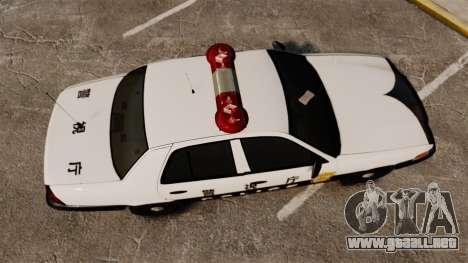Ford Crown Victoria Japanese Police [ELS] para GTA 4 visión correcta