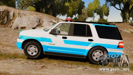 Ford Expedition Japanese Police SSV v2.5F [ELS] para GTA 4 left