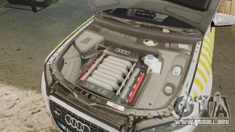 Audi S4 Avant Hungarian Police [ELS] para GTA 4 vista interior
