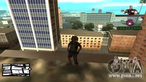 C-HUD Iron Man para GTA San Andreas segunda pantalla