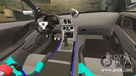 Mitsubishi Ecplise GS 1995 Racing Style para GTA 4 vista interior