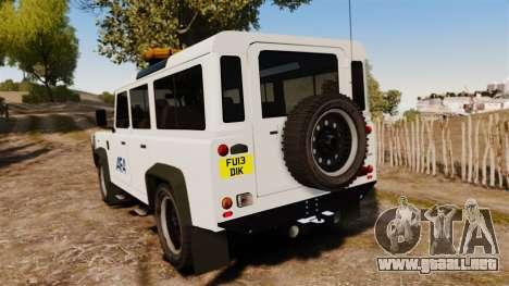 Land Rover Defender AFA [ELS] para GTA 4 Vista posterior izquierda