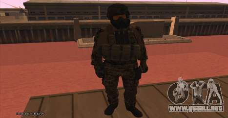 Global Defense Initiative Soldier para GTA San Andreas sucesivamente de pantalla