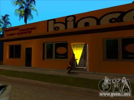 La nueva textura de la tienda Binco en LS para GTA San Andreas quinta pantalla