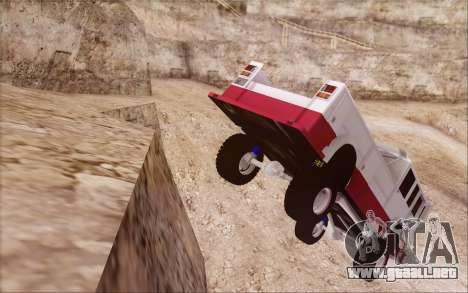 Offroad Firetruck para GTA San Andreas vista posterior izquierda