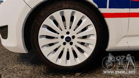 Ford Mondeo IV Wagon Police Nationale [ELS] para GTA 4 vista hacia atrás