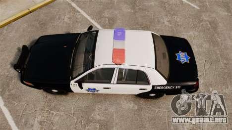 Ford Crown Victoria San Francisco Police [ELS] para GTA 4 visión correcta