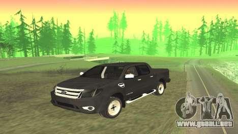 Ford Ranger Limited 2014 para GTA San Andreas vista posterior izquierda