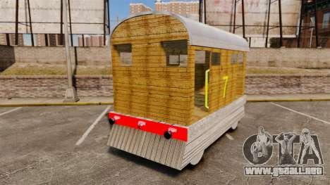 Tren-Toby- para GTA 4 Vista posterior izquierda