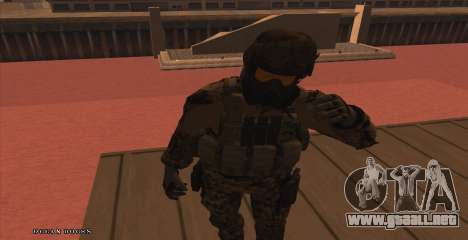 Global Defense Initiative Soldier para GTA San Andreas segunda pantalla