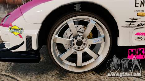 Mazda RX-7 D1 EXEDY para GTA 4 vista hacia atrás