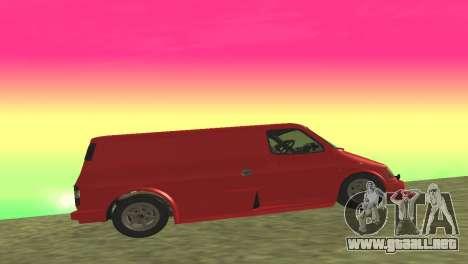 Ford Transit Supervan 3 Personalizado para GTA San Andreas vista hacia atrás