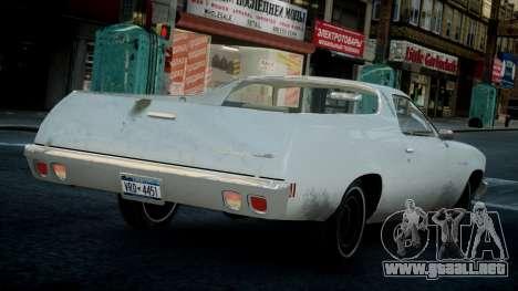 Chevrolet El Camino 1973 Old para GTA 4 visión correcta