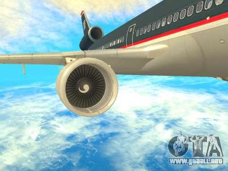 McDonnell Douglas MD-11 US Airways para la visión correcta GTA San Andreas