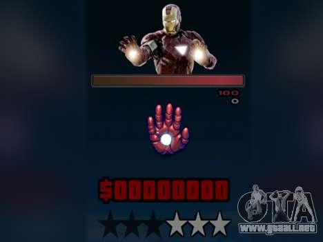 C-HUD Iron Man para GTA San Andreas