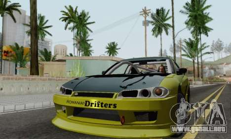 Nissan Silvia S15 Romanian Drifters para GTA San Andreas left