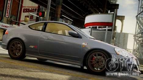Honda Mugen Integra Type-R 2002 para GTA 4 Vista posterior izquierda