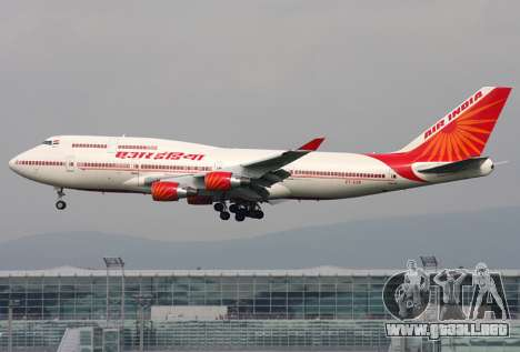Boeing 747 Air India para la vista superior GTA San Andreas
