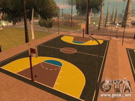 Nueva cancha de baloncesto para GTA San Andreas tercera pantalla