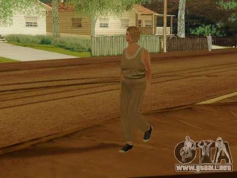 Mujer de edad avanzada para GTA San Andreas quinta pantalla