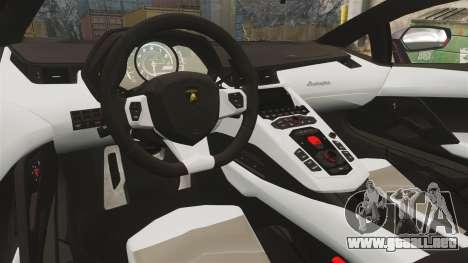 Lamborghini Aventador LP700-4 2012 [EPM] NFS para GTA 4 vista interior