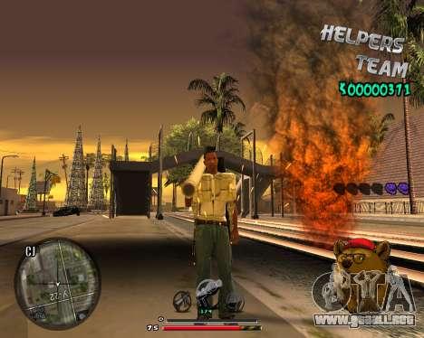 C-HUD Bear para GTA San Andreas sucesivamente de pantalla