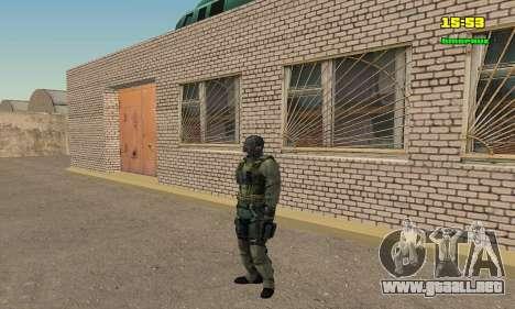 Кестрел Splinter Cell Conviction para GTA San Andreas sucesivamente de pantalla