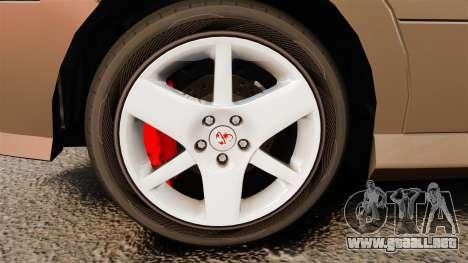 Dinka Chavos new wheels para GTA 4 vista hacia atrás