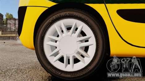 Renault Espace Police Nationale [ELS] para GTA 4 vista hacia atrás