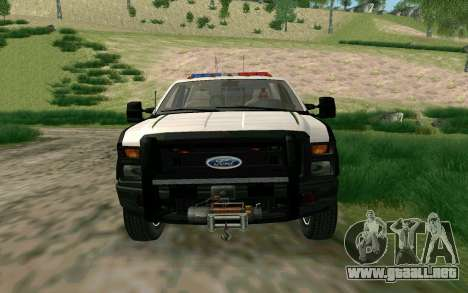 Ford F-250 Bone County Ultimate Response para GTA San Andreas left
