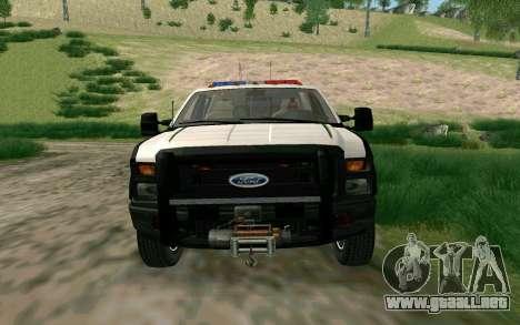 Ford F-250 Bone County Ultimate Response para GTA San Andreas left
