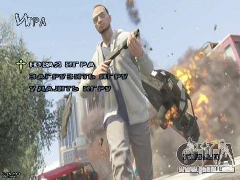 New Menu GTA 5 para GTA San Andreas segunda pantalla