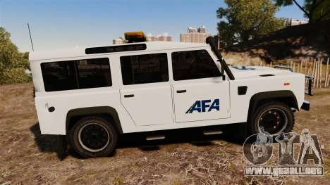 Land Rover Defender AFA [ELS] para GTA 4 left