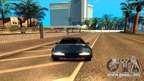 Elegy 4xget para GTA San Andreas vista posterior izquierda