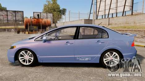 Honda Civic Si 2008 para GTA 4 left