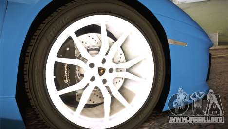 Lamborghini Aventador Roadster para la visión correcta GTA San Andreas