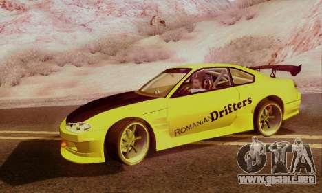 Nissan Silvia S15 Romanian Drifters para la visión correcta GTA San Andreas