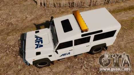 Land Rover Defender AFA [ELS] para GTA 4 visión correcta