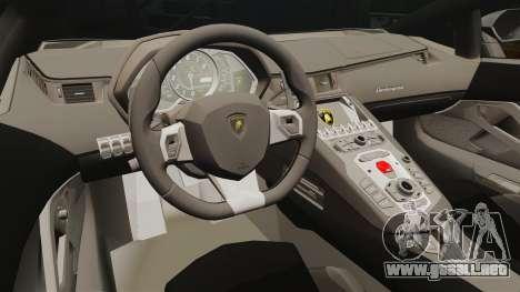 Lamborghini Aventador LP700-4 2012 [EPM] v1.1 para GTA 4 vista interior