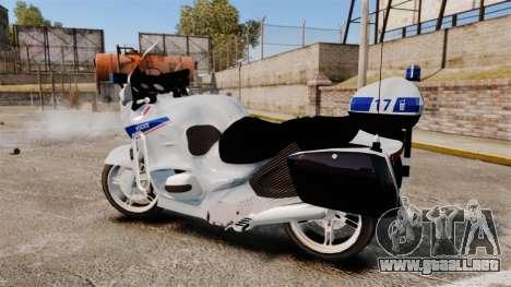BMW R1150RT Police nationale [ELS] v2.0 para GTA 4 left