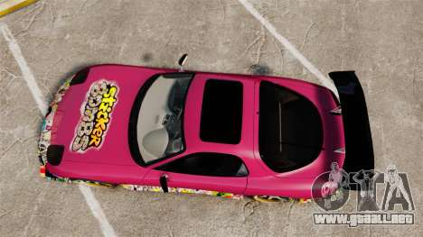 Mazda RX-7 D1 Sticker Bomb para GTA 4 visión correcta