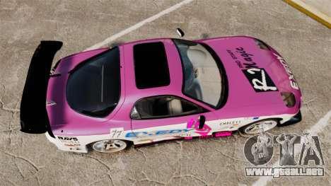 Mazda RX-7 D1 EXEDY para GTA 4 visión correcta