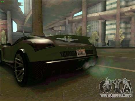Cheetah Grotti GTA V para GTA San Andreas vista posterior izquierda