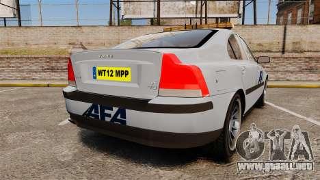 Volvo S60 AFA [ELS] para GTA 4 Vista posterior izquierda